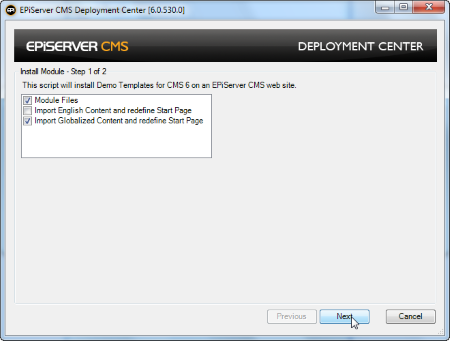 Installation instructions demo site episerver developer commu module files installs the demo template application components import english content and redefine start page installs content in english only maxwellsz