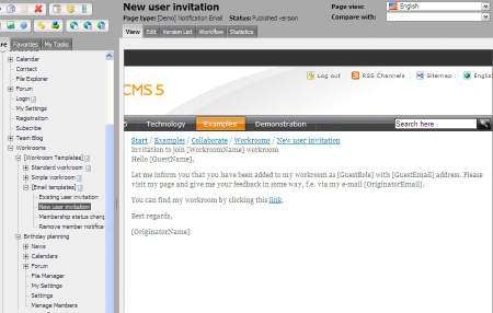 Workrooms In Demo Templates For EPiServer CMS R SP - Demo email template