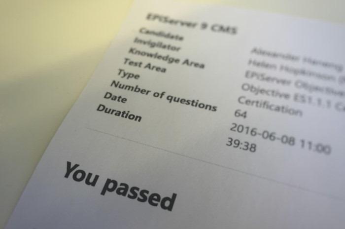 Episerver CMS 9 Certification Exam | Episerver Developer Community