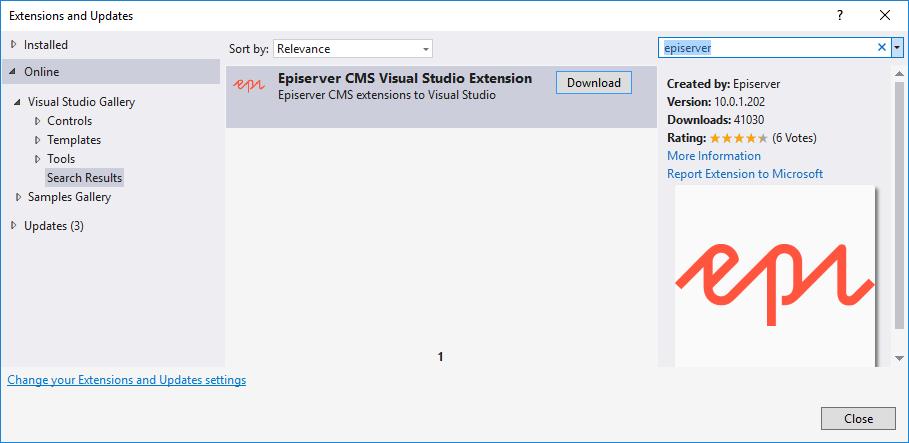 Support for Visual Studio 2017 | Episerver Developer Community