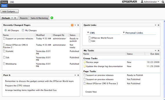 EPiServer CMS 6 CTP 2 is here!