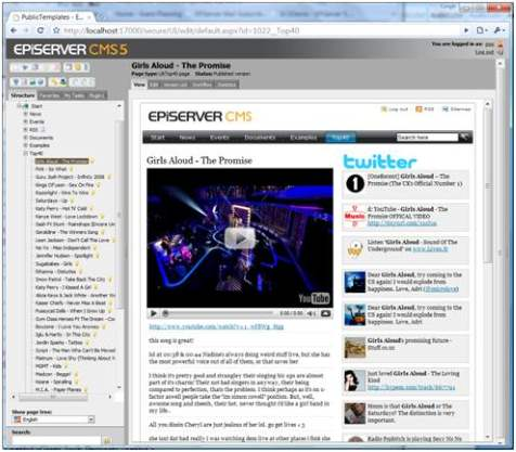 EPiServer Loves UK Top 40 (Or Yet Another Article About Page