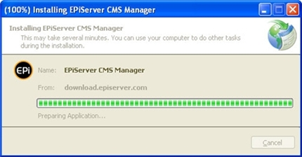 Installtion EPiServer Manager