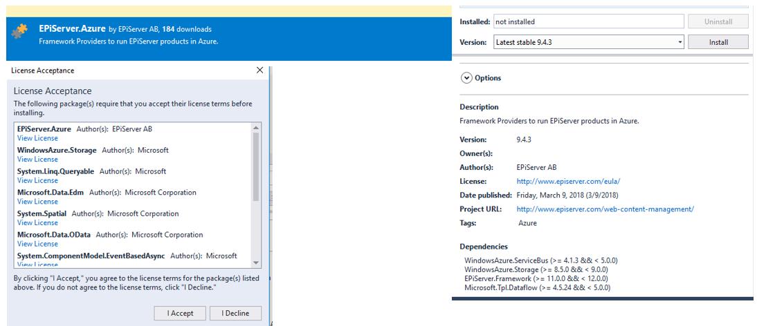 Using Azure Cloud for Storing Episerver CMS Blobs