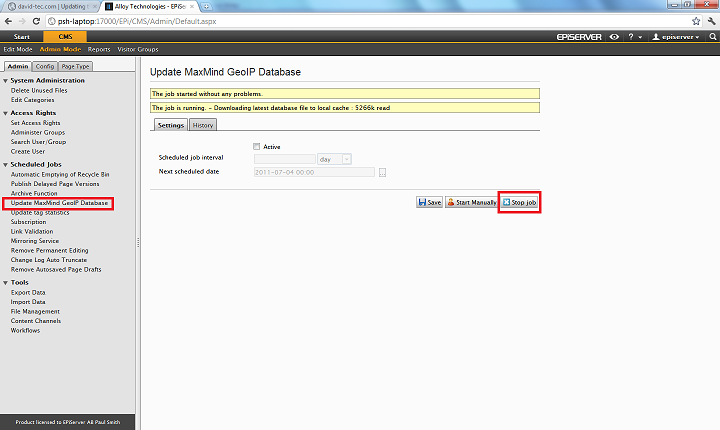 Automatically Updating the Geo-IP Database | Episerver Developer