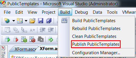 Manual Code Deployment Using the Visual Studio Publish Feature
