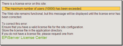 LicenseError - Max Number Of Users Exceeded