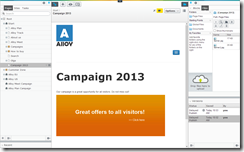 Example of a campaign with banner ads in EPiServer 7
